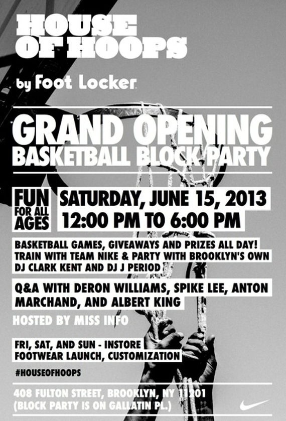 Nike and Foot Locker Celebrate House of Hoops Brooklyn Opening