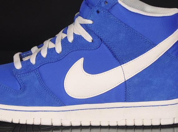 "sale retailer e7bc8 84c74 Nike Dunk High ""Blazer Pack"" Prize Blue/Sail | SneakerFiles"