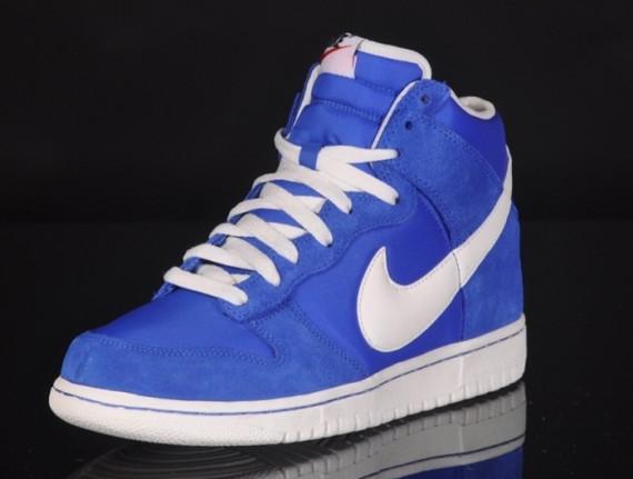 "sale retailer 1a1b0 e3296 Nike Dunk High ""Blazer Pack"" Prize Blue/Sail   SneakerFiles"