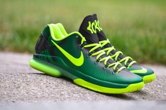 Nike KD V Elite Oregon Ducks Customs by DMC Kicks