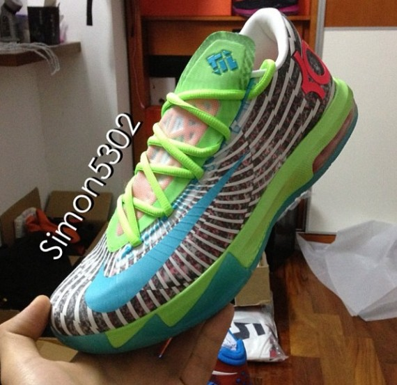 Nike KD VI Grey Green Blue