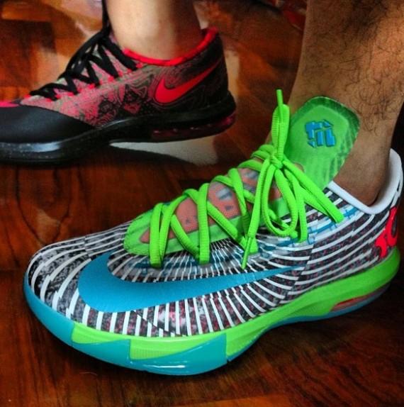 Nike KD VI Grey Green Blue