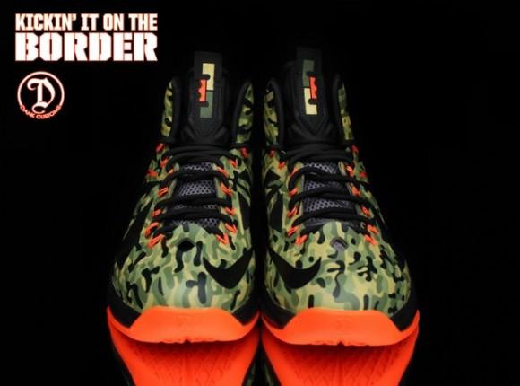 Nike LeBron X Hunter Custom for Kickin it on the Border by Dank Customs