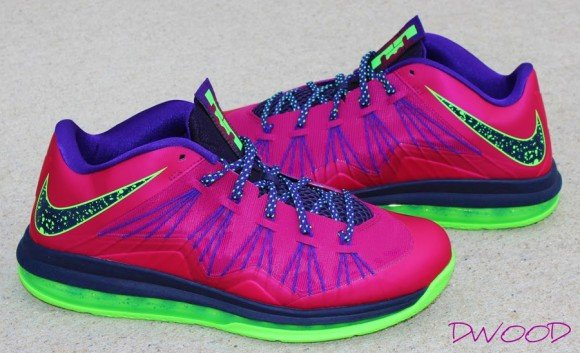 Nike LeBron X Low Red Plum Electric Green Another Look