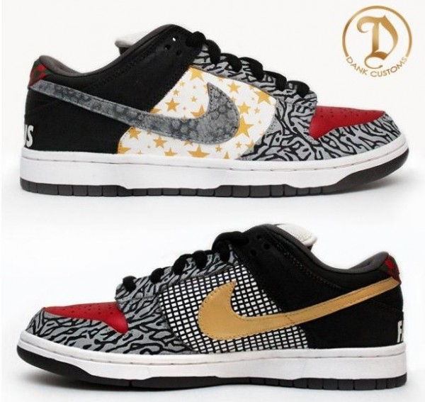 size 40 df60c 42a18 Dec 1 nike-sb-dunk-low-what-the-supreme-custom- elephant print ...