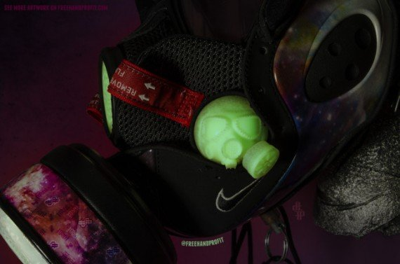 Nike Zoom Rookie Galaxy Gas Mask by Freehand Profit