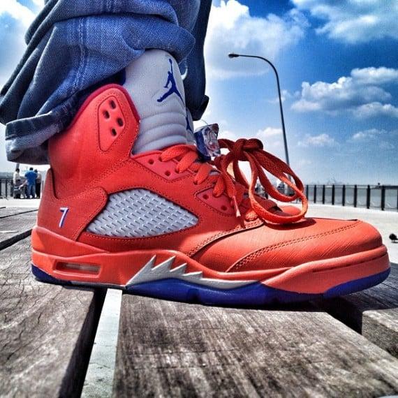 On Feet Images Air Jordan V Melo