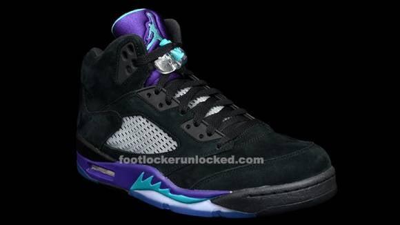 Release Info Air Jordan 5 Retro Black Grape