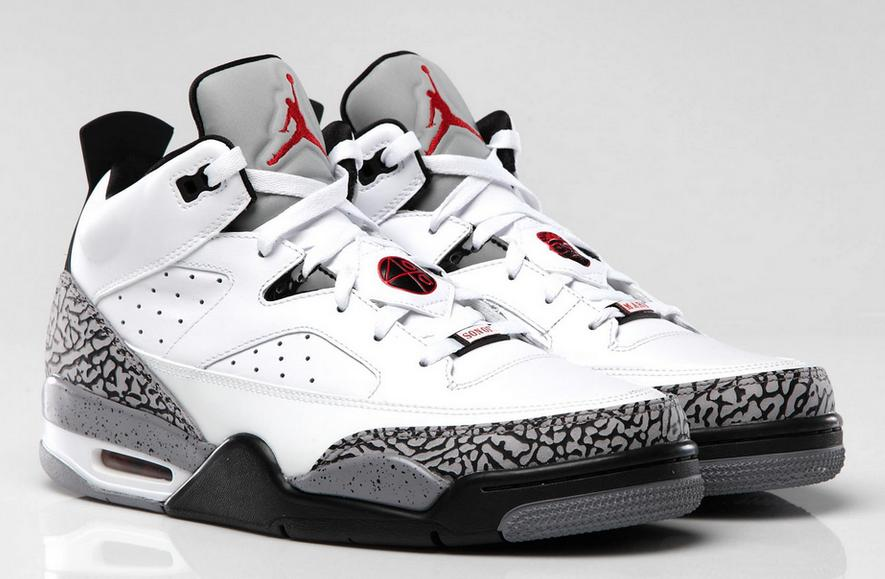 9532e2da860 Release Reminder: Jordan Son of Mars Low 'White/Gym Red-Black-Cement ...