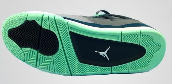 Sample vs Release Version Comparison Green Glow Air Jordan IV Edition
