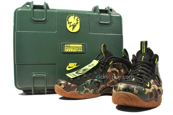 Special Edition Packaging Camo Nike Air Foamposite Pro