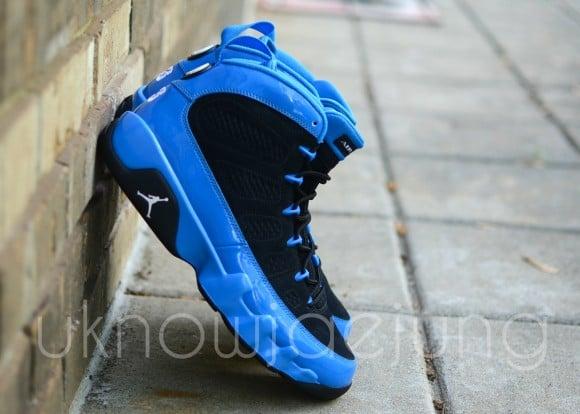 Unreleased Sample Air Jordan IX Photo Blue Patent Leather Black