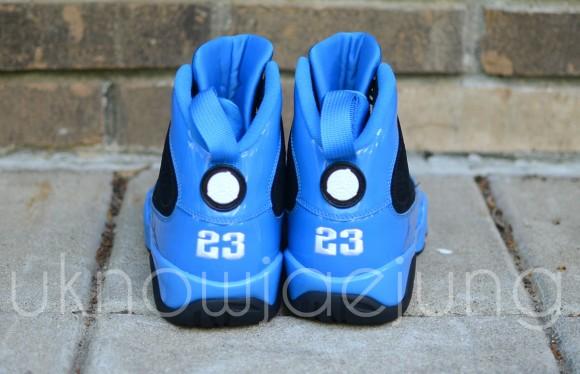 Unreleased Sample  Air Jordan IX Photo Blue Patent Leather Black ... adc2de1529