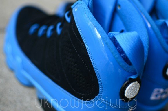Unreleased Sample Air Jordan IX Photo Blue Patent Leather Black