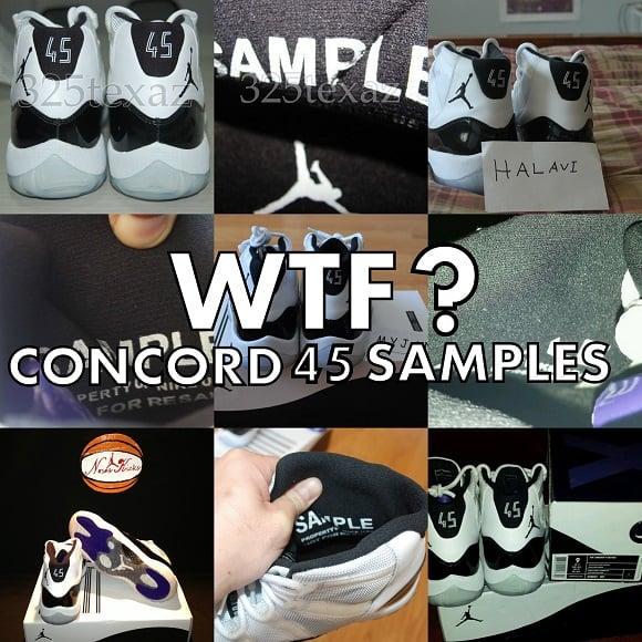 WTF Air Jordan XI 11 Retro Concord 45 Samples Flood Ebay