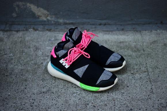 Adidas Y 3 Qasa High Black Neon Exclusive Release