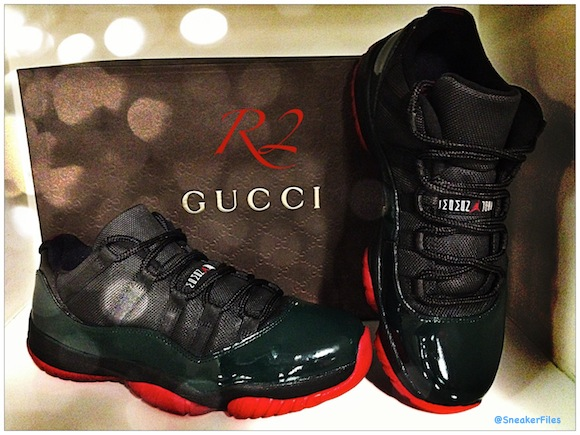 Air Jordan 11 Low Gucci Customs by R2 CustomKicks