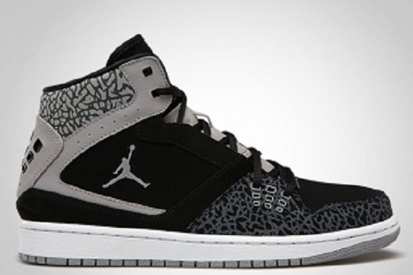 Jordan 1 Flight – Black/Elephant Print