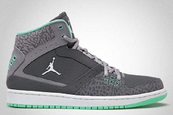 Jordan 1 flight - green glow