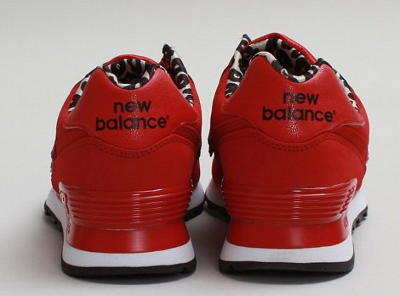 New Balance 574 – Red/Leopard