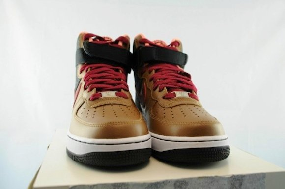 Nike Air Force 1 Hi Ale Brown Noble Red New Release