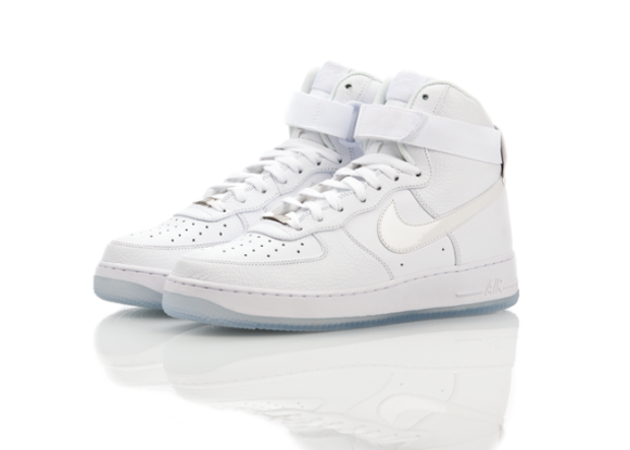 more photos ad08b 57f4b Nike Air Force 1 Hi CMFT White Ice New Release