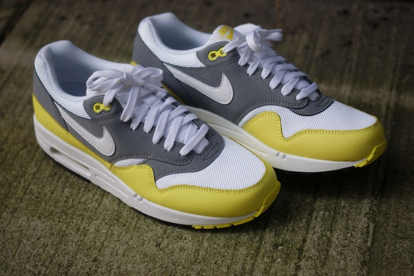 Nike Air Max 1 Grey Yellow Available Now