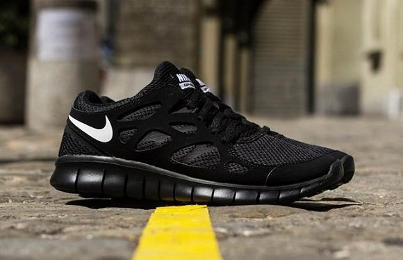 Vk4rkm Nike Free Run 2 Black Black Discount Nike Free Run 2 All Black
