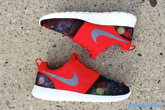 Nike Roshe Run Nebula Blues Nova Reds Customs by EddieGvrciv