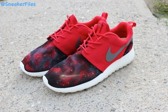Nike Roshe Run Nebula Blues Nova Reds Customs by EddieGvrciv