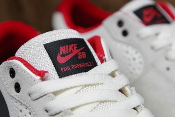 Nike SB Paul Rodriguez 7 Sail Black Red New Release