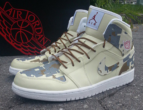 Air Jordan 1 Digi Camo Customs by Ecentrik Artistry