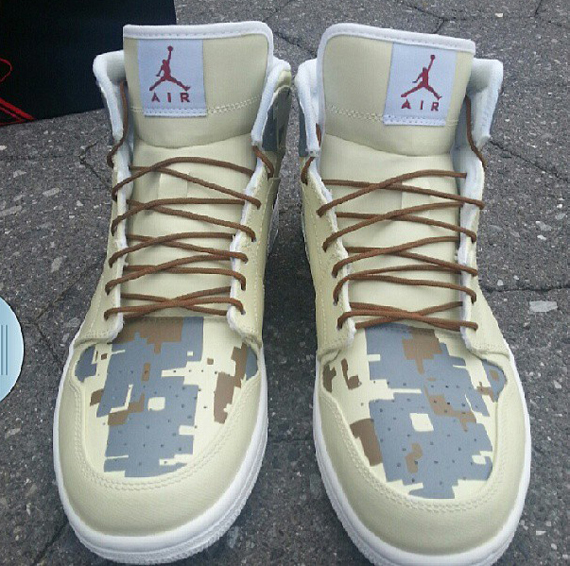 Air Jordan 1 Digi Camo Customs by Ecentrik Artistry