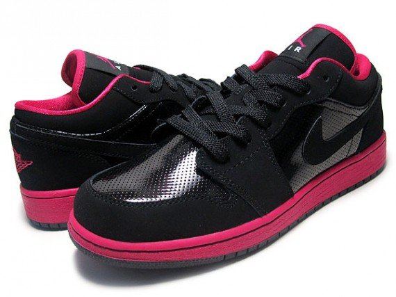 Air Jordan 1 Low GS Black Voltage Cherry