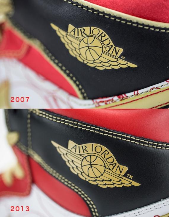 Air Jordan 1 XQ 2007 vs 2013 Comparison
