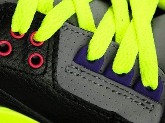 Air Jordan III GS Black Purple Volt Yet Another Look