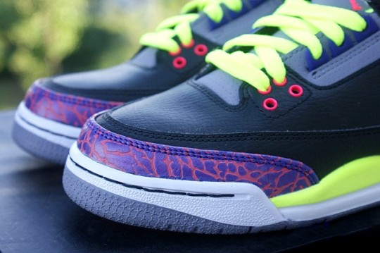 Air Jordan III GS Black Purple Volt Another Look