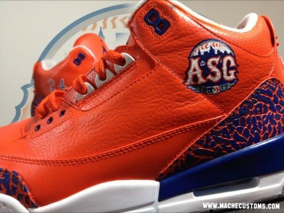 Air Jordan III MLB All-Star for Pedro Alvarez by Mache Customs