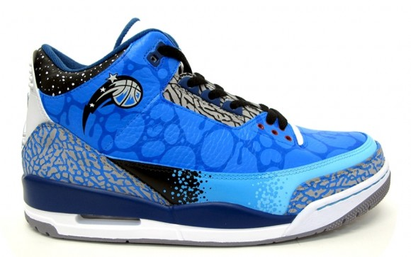 Air Jordan III Orlando Magic Customs by Sekure D