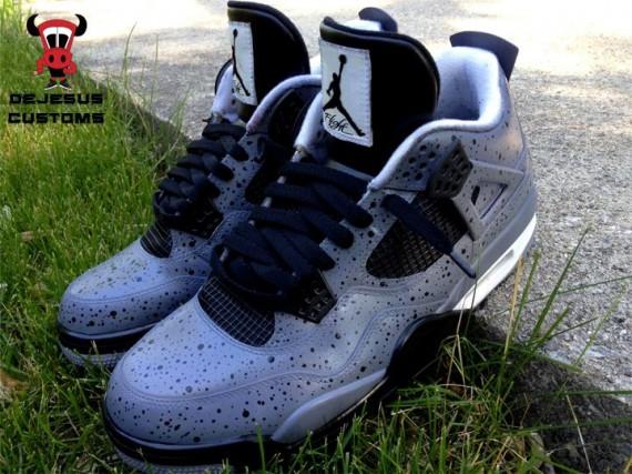 Air Jordan IV All Over Cement by DeJesus Customs