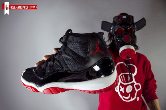 Air Jordan XI Bred Gas Mask by Freehand Profit