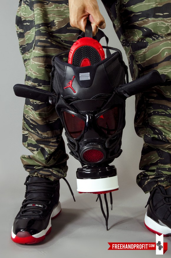 "Air Jordan XI ""Bred"" Gas Mask by Freehand Profit 