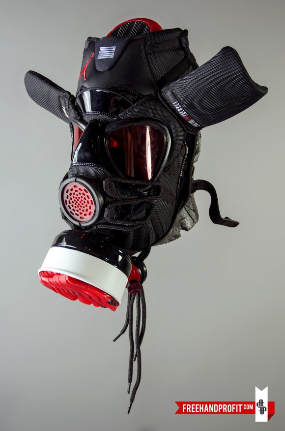 Air Jordan XI Bred Gas Mask by Freehand Profit