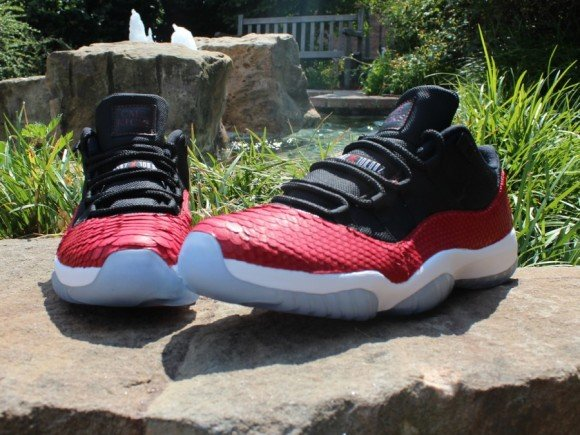 Air Jordan XI Low Red Python Customs by CMB Kicks