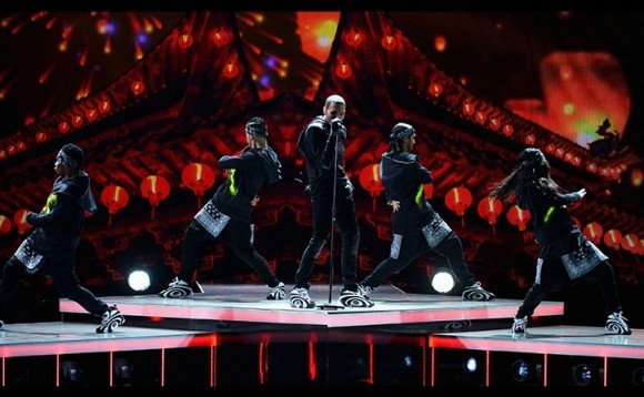 Chris Brown Performs at BET Awards in the Reebok Shaqnosis