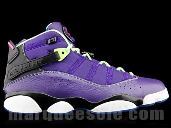 Jordan 6 Rings Purple Black Volt