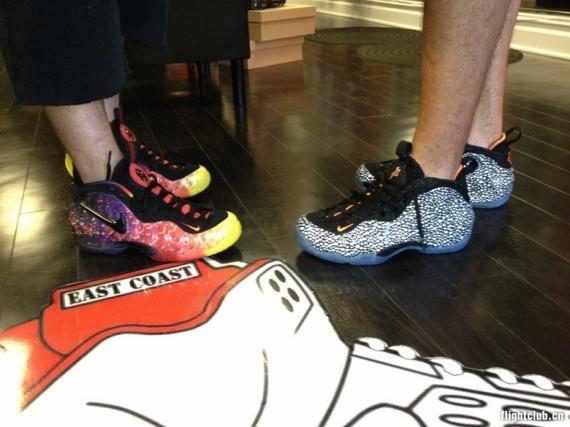 Nike Air Foamposite Asteroid + Safari On-Feet