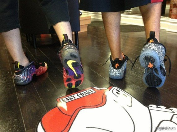 "Nike Air Foamposite ""Asteroid"" + ""Safari"" On-Feet ...