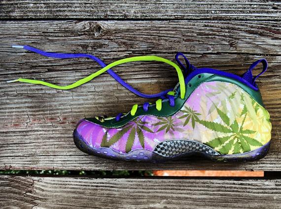 NikeAir Foamposite One 420 Customs by Gourmet Kickz