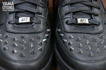 Nike Air Force 1 Downtown Hi Spike 'Black/Black' | Release Date + Info